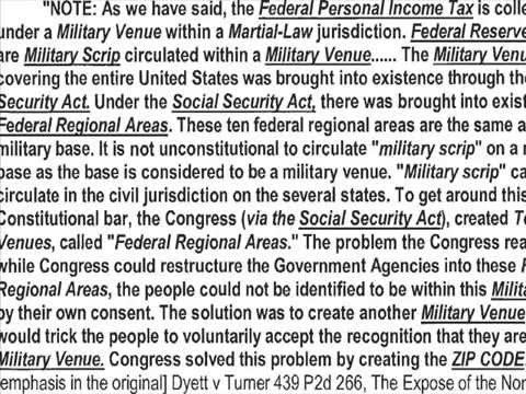 Using a Zip Code Puts You Under Military Rule According to Supreme Court