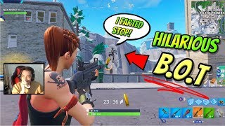 Meeting The Funniest bot In Fortnite History... (Playground Noobs)