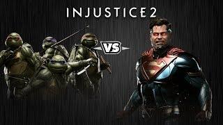 Injustice 2 - Черепашки-Ниндзя против Супермена - Intros & Clashes (rus)