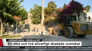 Två svenskar vårdas på sjukhus med allvarliga skador efter jordbävning - Nyheterna (TV4)