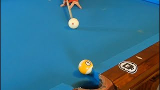 How to Push a Pool Ball Through the Rail and How to Spin it Into a Pocket!