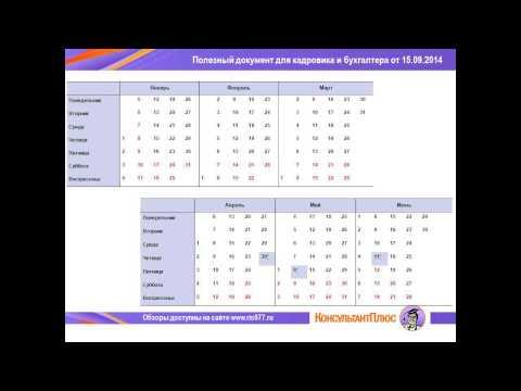 Производственный календарь-2015