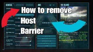 HOW TO TURN OFF HOST BARRIER ARK SURVIVAL EVOLVED (PS4)