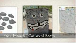 Unique Kids Carnival Booth Rock Monster