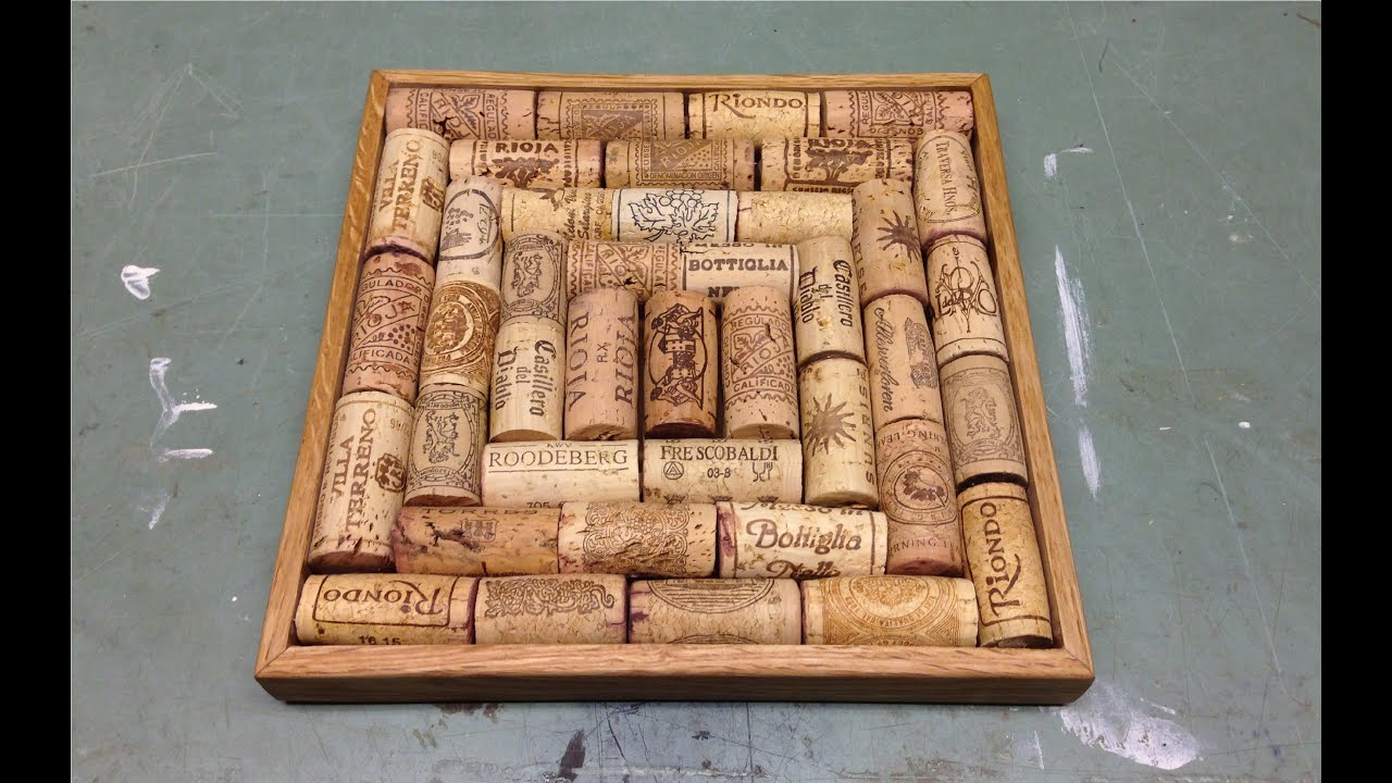 making a trivet with wine corks youtube