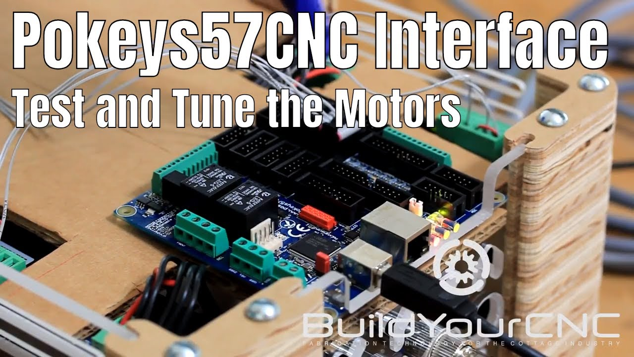 4  Pokeys57CNC Testing all of the Stepper Motors and Motor Tuning Explained