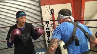 Kali Reis Workout in advance of World Title bout with Kandi Wyatt