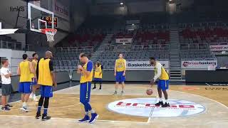 Practice before first Euroleague game vs Bamberg