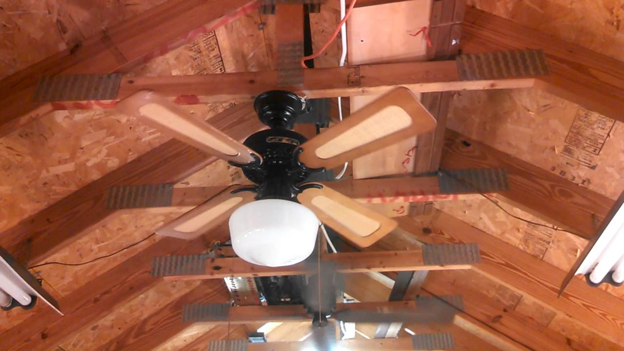 Hunter 36 Quot Original Ceiling Fan Black With Cane Blades
