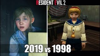 Claire Saves Sherry From A Mutated William Birkin - RE2 Remake VS Original RE2 Comparison
