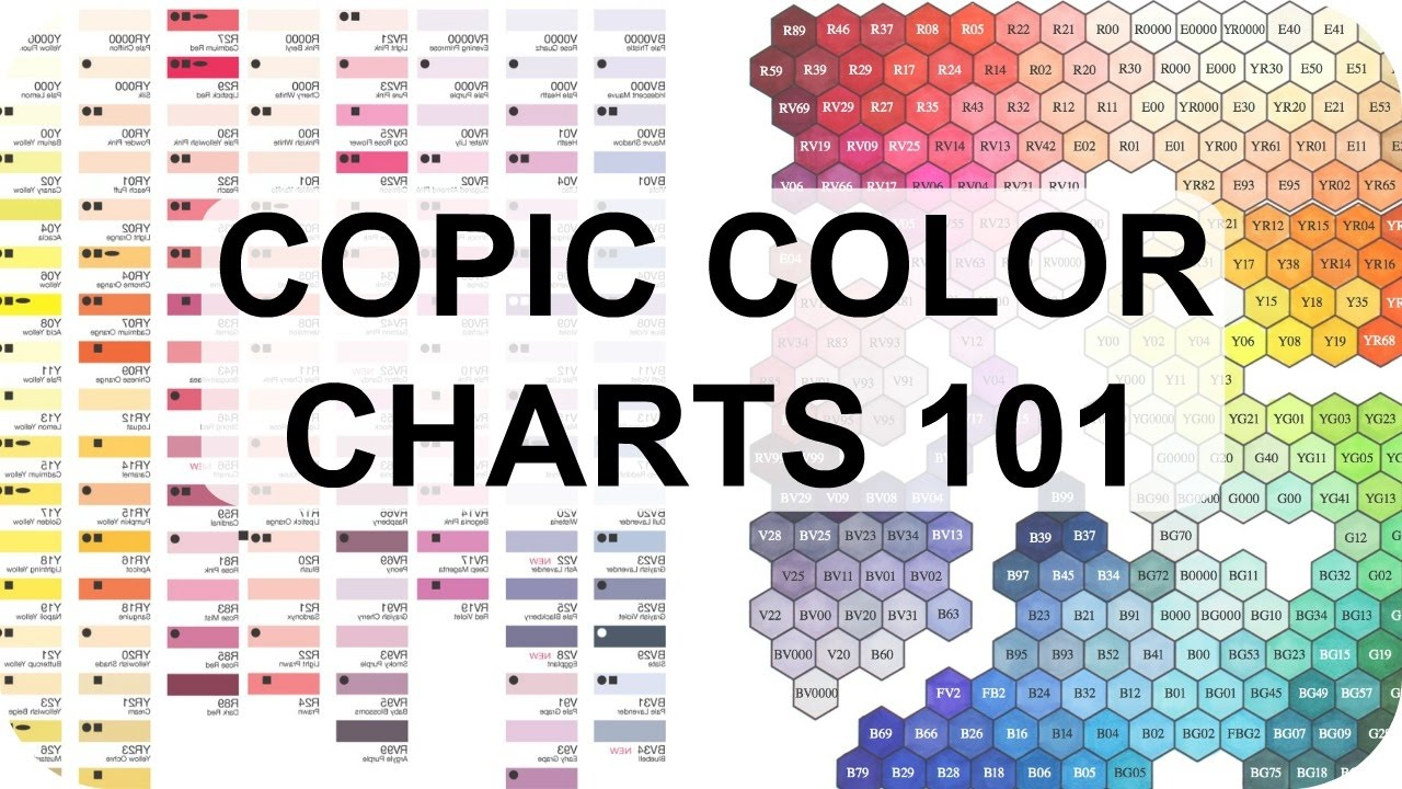 Copic Color Charts Why Theyre Useful Featuring Hex Chart