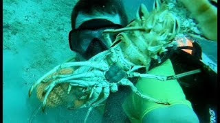 Monster Lobster {Catch Clean Cook} Grillin' on the BEACH!!!