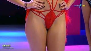 Модный Показ Бикини Нижнее Белье HD 18+ Super Pop Best Bikini Lingerie Fashion Show 2018 - 2019. Латексные Женские Трусы Совмещенные с Маской