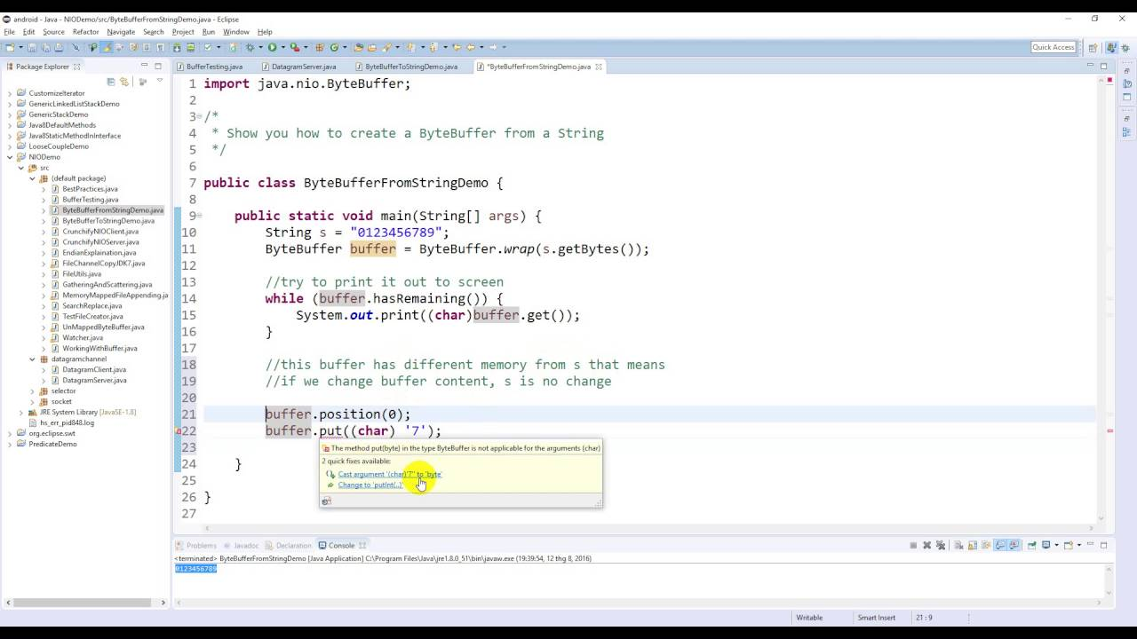 Java nio create a bytebuffer from a string youtube java nio create a bytebuffer from a string baditri Images