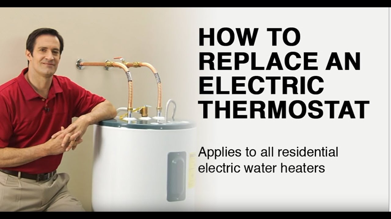 how to replace an electric water heater thermostat youtube. Black Bedroom Furniture Sets. Home Design Ideas