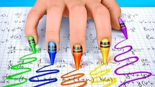 ¡COLANDO MAQUILLAJE EN CLASE || Ideas fáciles y consejos con útiles escolares por 123 GO! SCHOOL