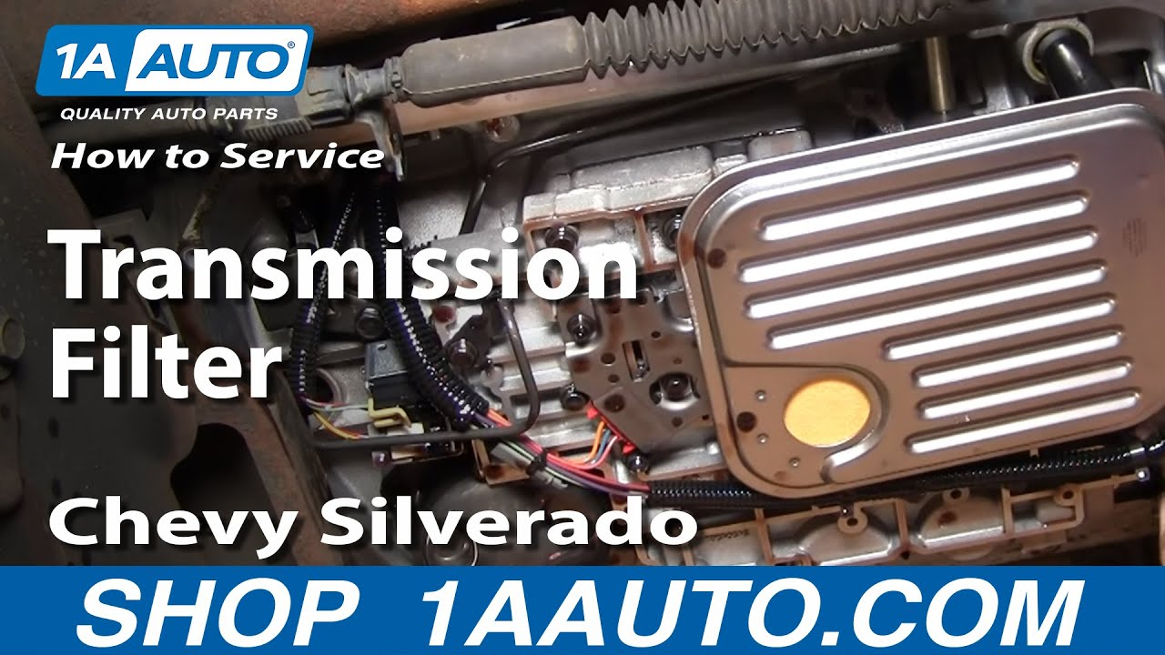 how to service transmission filter silverado sierra 2500hd 6 0l 00 06 1aauto com youtube [ 1920 x 1080 Pixel ]