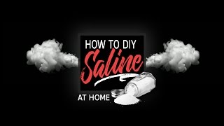 How To Make 0.9% Normal Saline at Home | DIY Mix