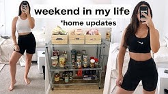 WEEKEND VLOG: organizing my pantry, setting up the den & grocery haul for the week