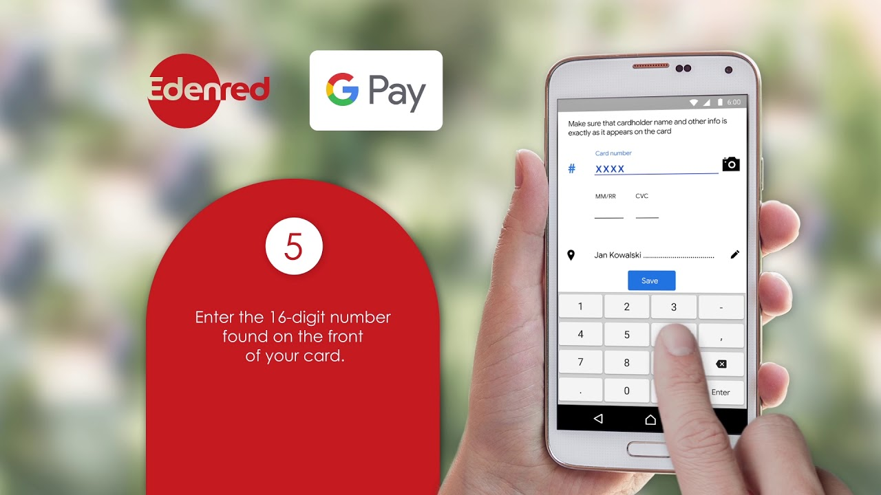 How To Add Your Edenred Card To Google Pay Youtube
