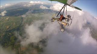 """Touch The Clouds"" flight with ultra light trike in France"
