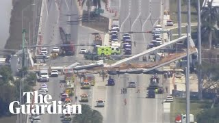 CCTV footage shows moment Florida bridge collapses
