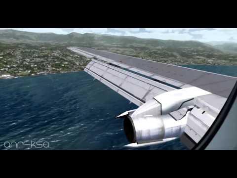 FSX - Boeing 737-200 Landing