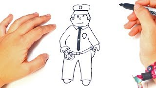 How to draw a Policeman | Policeman Easy Draw Tutorial