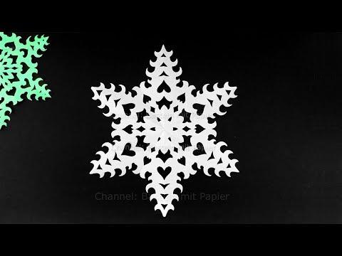 Schneeflocken basteln mit Papier für Weihnachten ❄ DIY Sterne Bastelideen - Deko Weihnachtsbasteln