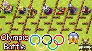 Clash of Clans OLYMPIC BATTLE Gameplay| Clash of Clans Olympic Troll Village Update