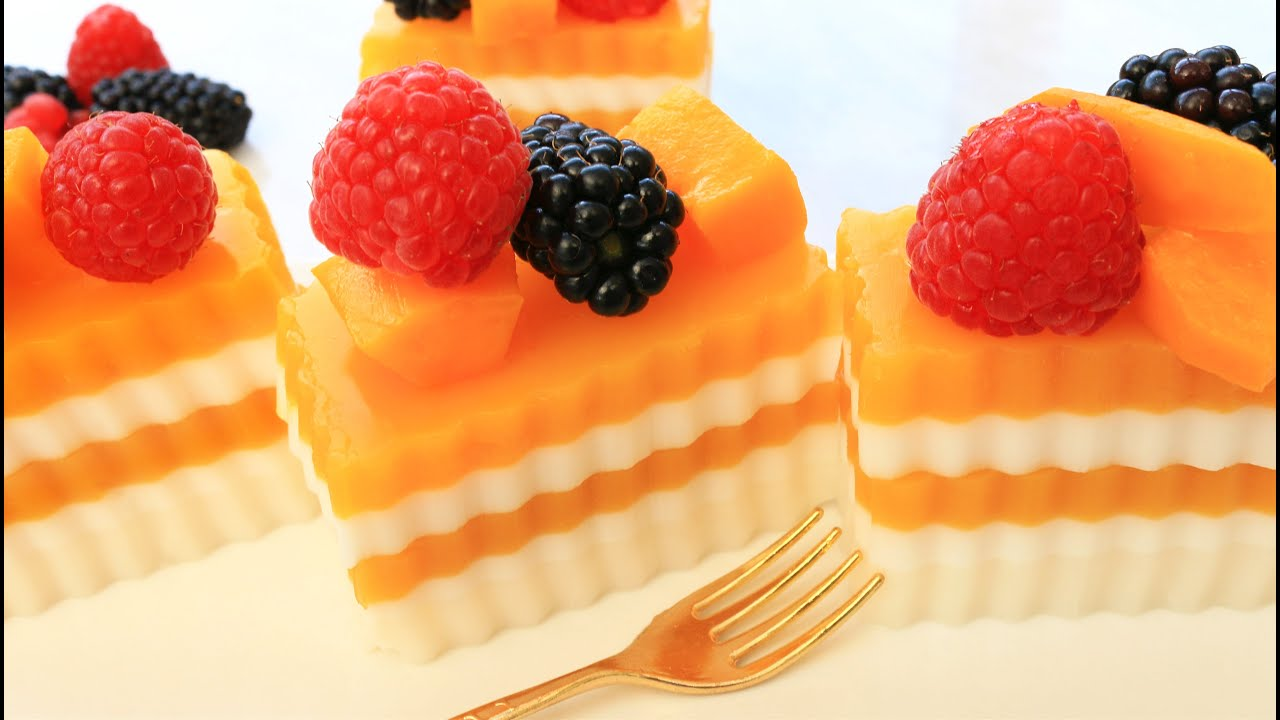 Fruit And Jelly Cake Recipe: How It's Made Mango Coconut Jelly Cake