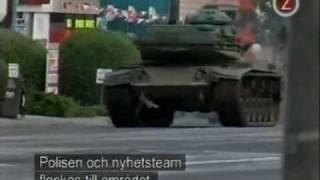 Worlds Wildest Police Videos - Crazy Tank Runaway