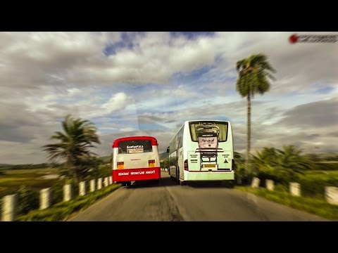 KSRTC Mercedes Benz Daring Overtake on Narrow Road