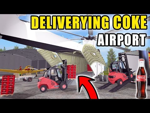 TRANSPORTING LIFE TIME SUPPLY OF COKE | EP.5 | AIRPORT SERIES | FARMING SIMULATOR 2017