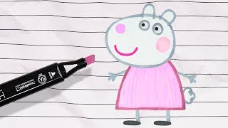 Let's Draw an Animated Suzy Sheep! Learn Colors for Kids