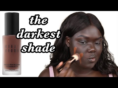 Bobbi Brown Skin Longwear Weightless Foundation || Nyma Tang #thedarkestshade