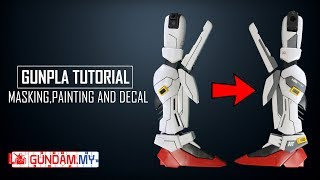 Gunpla Tutorial - Masking,Painting & Decal (Project: S-Gundam Part 2)