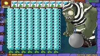 Plants vs Zombies Hack - Snow Pea ICE vs Dr. Zomboss Fight