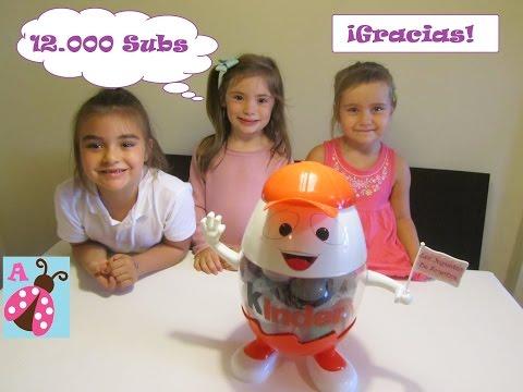 Huevo Kinder Gigante lleno de huevos sorpresa - Frozen, In Out, Mickey, Angry Birds, Little Pony