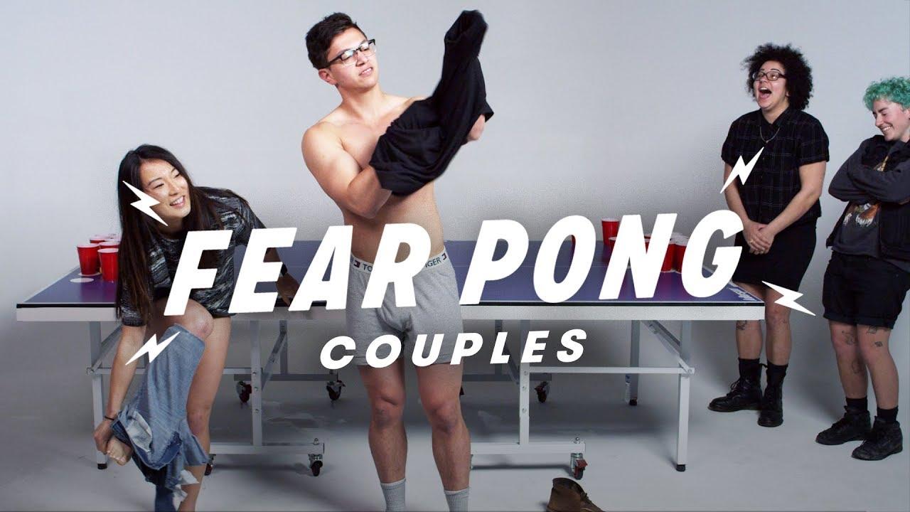 Couples Play Fear Pong (Karl & Micaila vs. Melissa & Adolfo)   Fear Pong   Cut