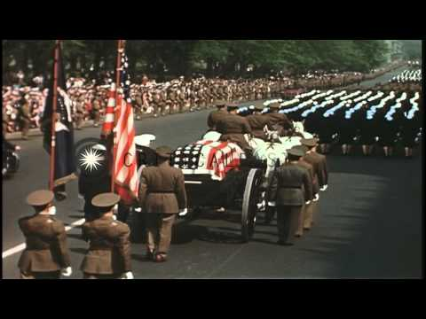 The State Funeral of President Franklin D. Roosevelt HD Stock Footage