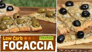 Low Carb Focaccia: Das perfekte Low Carb Brot zum Grillen oder zum Abendessen | Low Carb Brotrezepte