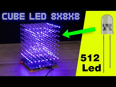how-to-make-led-cube-8x8x8-incredible-effects