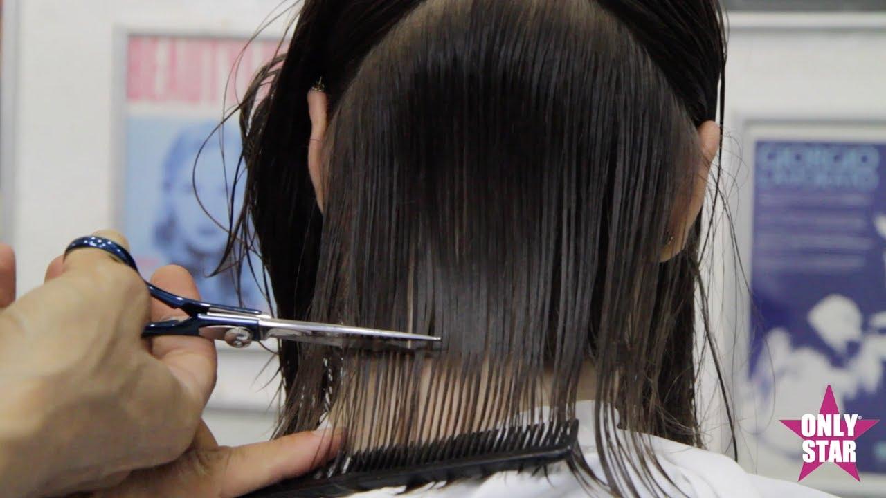Taglio capelli corti scalati tutorial
