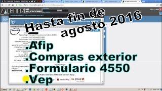 vuclip No sirve más - Formulario 4550 afip  - Tramite en la afip, NO vigente (mis aplicaciones web) - vep