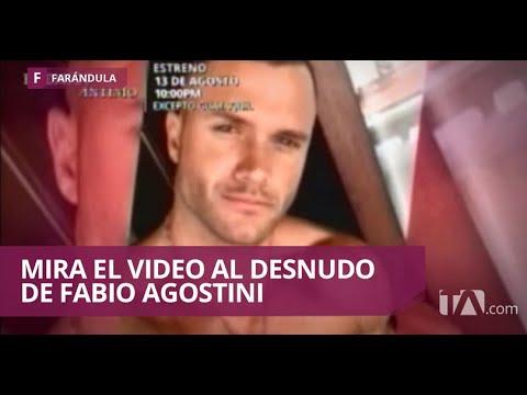 1746719faaaa Fabio Agostini postea un video al desnudo en el baño de un hotel