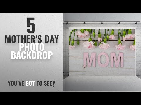 Top 5 Mother's Day Photo Backdrop [2018]: 7X5FT White Wood Photography Backdrops Vinyl Pink