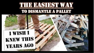 How to easily dismąntle a pallet