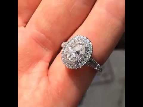 Carat Diamond Engagement Ring Halo