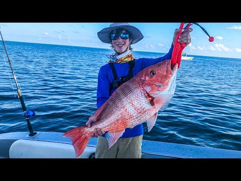 Defeated By Monster Red Snapper While Offshore Fishing In Galveston Texas
